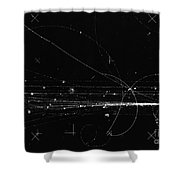 Charged Particles, Bubble Chamber Event Shower Curtain