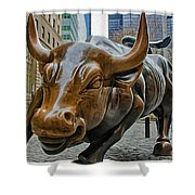 Charging Bull 4 Shower Curtain