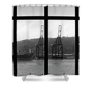 Charging Dock Of Barcelona Shower Curtain by Agusti Pardo Rossello