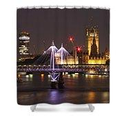 Charing Cross Bridge Shower Curtain