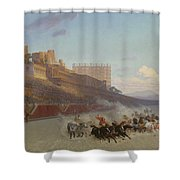 Chariot Race Shower Curtain