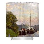 Charlands Sur La Seine 1885 Shower Curtain