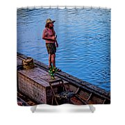 Charles Anderson On The Walkboard 1077vt Shower Curtain