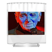 Charles Aznavour Shower Curtain