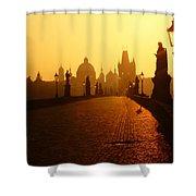 Charles Bridge Prague At Sunrise Shower Curtain