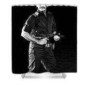 Charles Bronson In Raid On Entebbe 1977  Shower Curtain