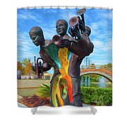 Charles Buddy Bolden Shower Curtain