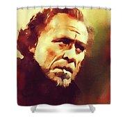 Charles Bukowski, Literary Legend Shower Curtain
