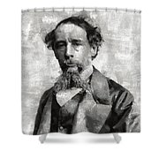 Charles Dickens Author Shower Curtain