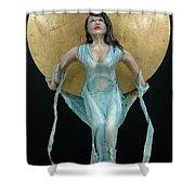 Charles Hall - Creative Arts Program - Full Moon Shower Curtain