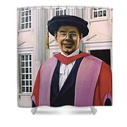Charles Harpum Receiving Doctorate Of Law Shower Curtain