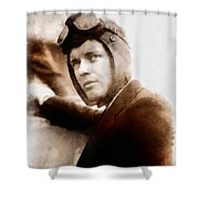 Charles Lindbergh, Aviator Shower Curtain