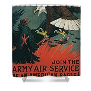 Join The Army Air Service Shower Curtain
