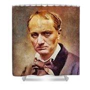 Charles Pierre Baudelaire, Literary Legend Shower Curtain