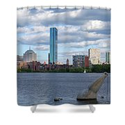Charles River Boston Ma Crossing The Charles Shower Curtain