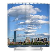 Charles River Cloud Stack Boston Ma Shower Curtain