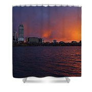 Charles River Vibrant Sunset Boston Ma Shower Curtain