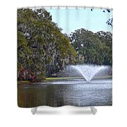 Charles Towne Landing Fountain Shower Curtain