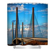 Charles W Cullen Bridge South Approach Shower Curtain