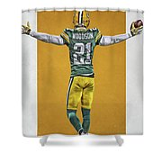 Charles Woodson Green Bay Packers Art 2 Shower Curtain