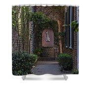 Charleston Brick Alley Shower Curtain