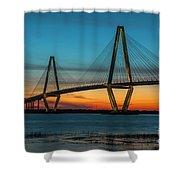 Charleston Golden Hour Shower Curtain