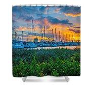 Charleston Marina Shower Curtain