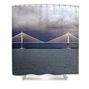 Charleston Ravenel Bridge Shower Curtain