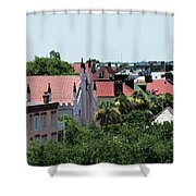 Charleston Rooftops - Queen And Church Streets Shower Curtain