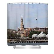 Charleston Skyline Shower Curtain