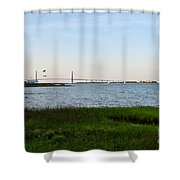 Charleston South Carolina Waterfront Park During Sunset Shower Curtain