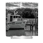 Charleston Star In Monochrome Shower Curtain
