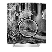 Charleston Street Bike Shower Curtain