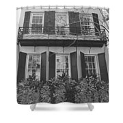Charleston Style Home Black And White Shower Curtain