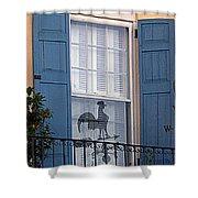 Charleston Weathervane Reflection Shower Curtain