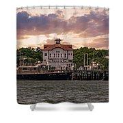 Charleston Wharf Shower Curtain