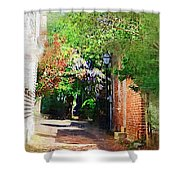 Charlestons Alley Shower Curtain