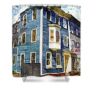 Charlestown Blues Shower Curtain