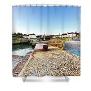 Charlestown From The Sea Wall Shower Curtain