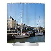 Charlestown Harbour Cornwall Shower Curtain