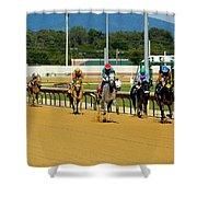 Charlestown Races Shower Curtain