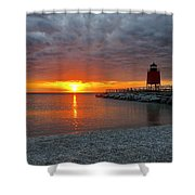 Charlevoix Sunset Shower Curtain