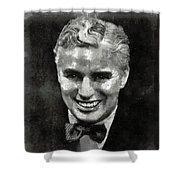 Charlie Chaplin Hollywood Legend Shower Curtain