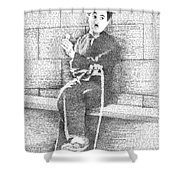 Charlie Chaplin In His Own Words Shower Curtain