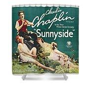 Charlie Chaplin In Sunnyside 1919 Shower Curtain