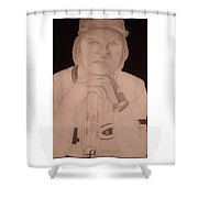 Charlie Hustle Shower Curtain