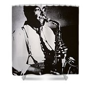 Charlie Parker Shower Curtain by American School