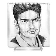 Charlie Sheen Shower Curtain