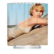 Charlize Theron Shower Curtain