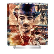 Charlot Colors And Poems  Shower Curtain